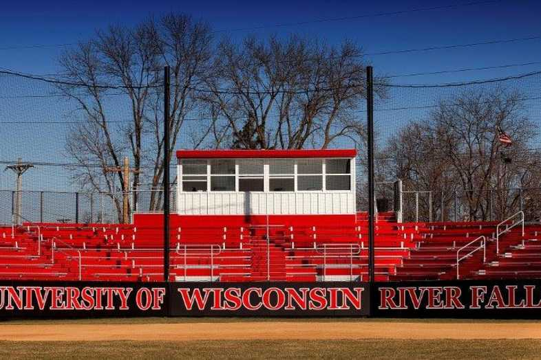 University of Wisconsin-River Falls - Softball Bleachers from Southern Bleacher - 1