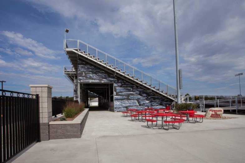 PLYMOUTH COMMUNITY SCHOOL CORPORATION - Football Field - Built by Southern Bleacher - 10