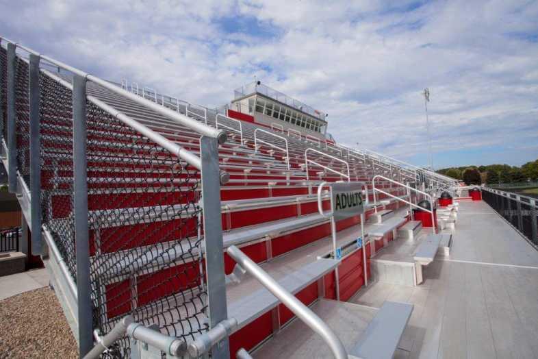PLYMOUTH COMMUNITY SCHOOL CORPORATION - Football Field - Built by Southern Bleacher - 4
