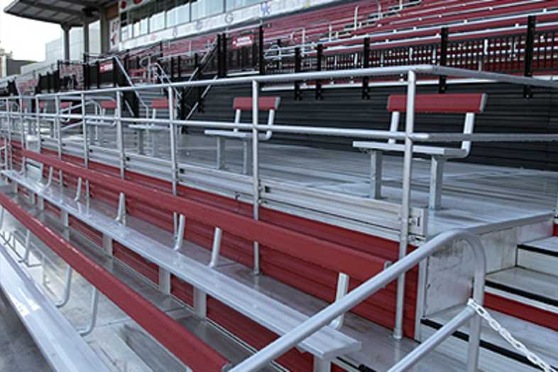 Track Bleachers - University of Arkansas