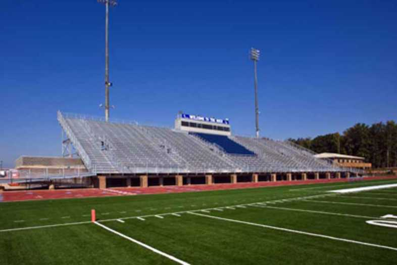 Football Bleachers - Strong Rock Christian School