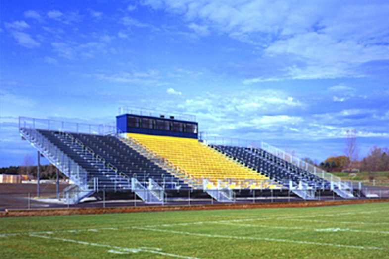 Football Bleachers - Manistee Area Public School