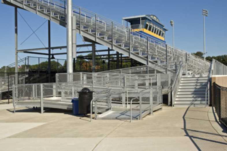 Football Bleachers - Grand Haven Public Schools