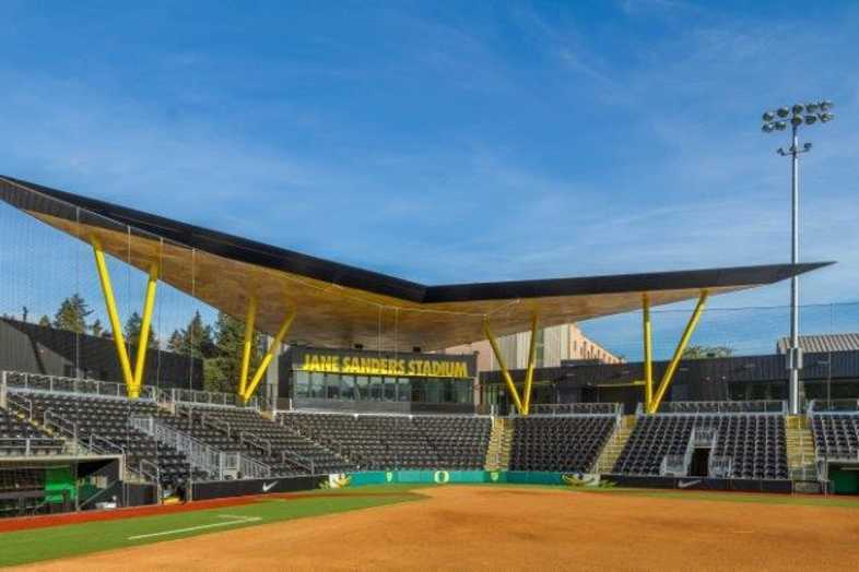 University of Oregon - Jane Sanders Softball Stadium - Built by Southern Bleacher - 3