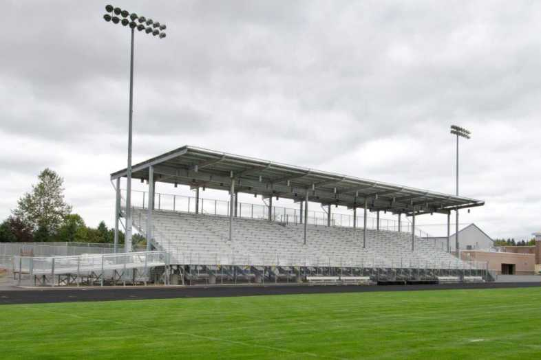 Hockinson School District - Football Bleachers - Built by Southern Bleacher - 3