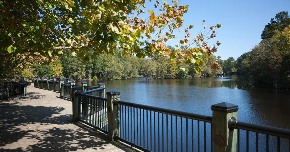 Conway Riverwalk - boardwalk alongside the river