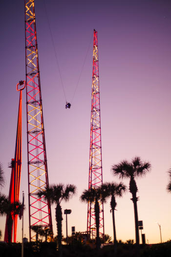 The Sling Shot amusement ride can be found just south of the Daytona Beach Boardwalk at Screamer's Park