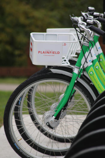bike sharing, Plainfield bike sharing, zagster bikes, trails