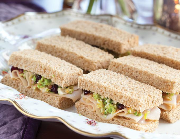Trio of Finger Sandwiches | Stock Image