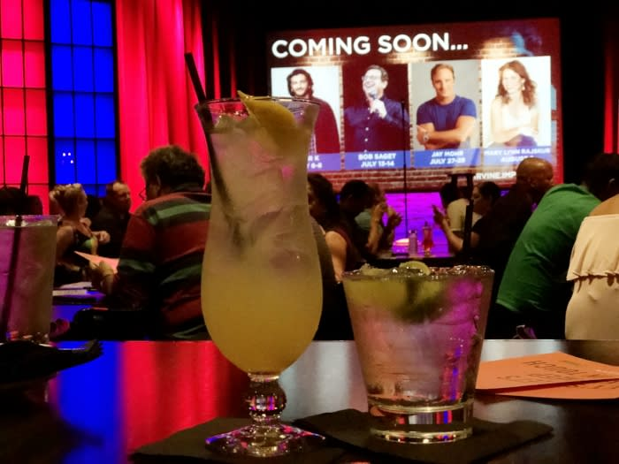 Cocktails at Improv Irvine