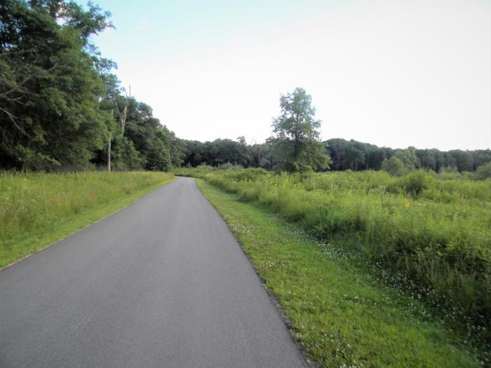 Paved Oak Savannah Trail in Northwest Indiana