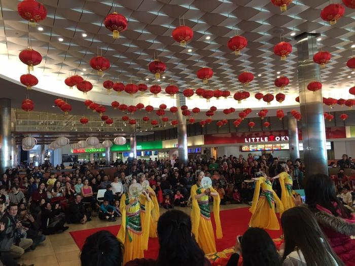 A Chinese New Year show at Fashion Outlets of Chicago