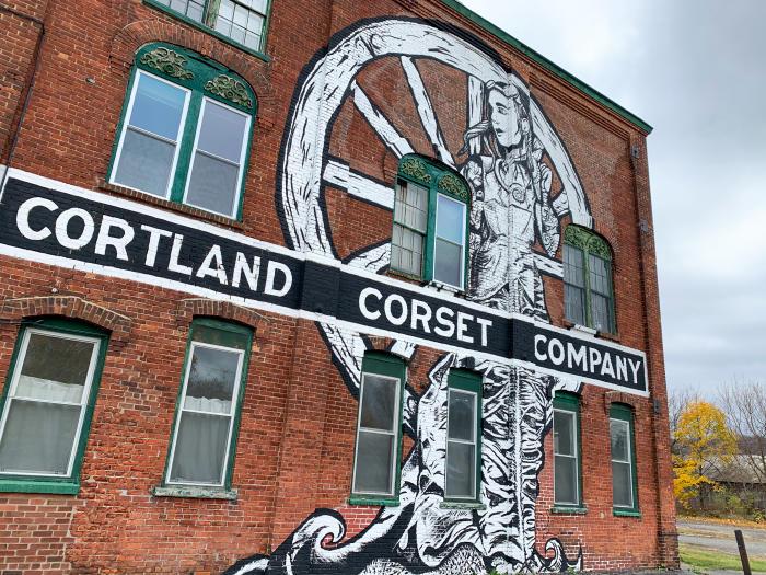 Cortland Corset Company Mural