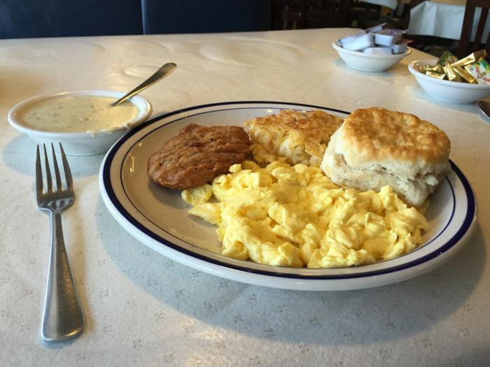 Blue Plate breakfast - Southern Cooking