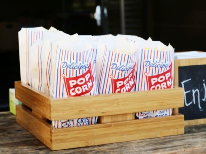 Popcorn at Hotel Irvine Movie Night