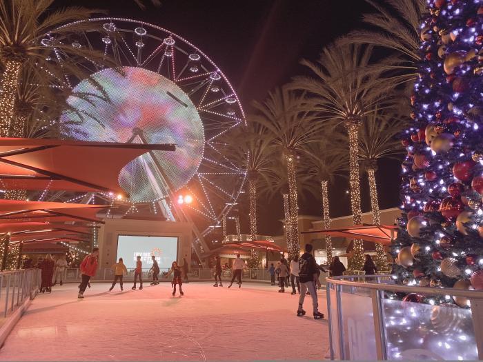 Irvine Spectrum Center Giant Wheel and Skating Rink Left Side