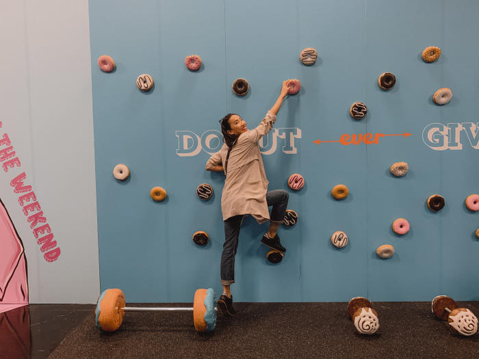 Cheat Day Land Donut Climbing Wall