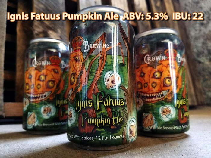 Crown Brewing Ignis Fatuus Pumpkin Ale