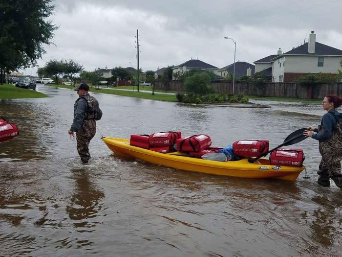 Pizza Delivery - Hurricane Harvey