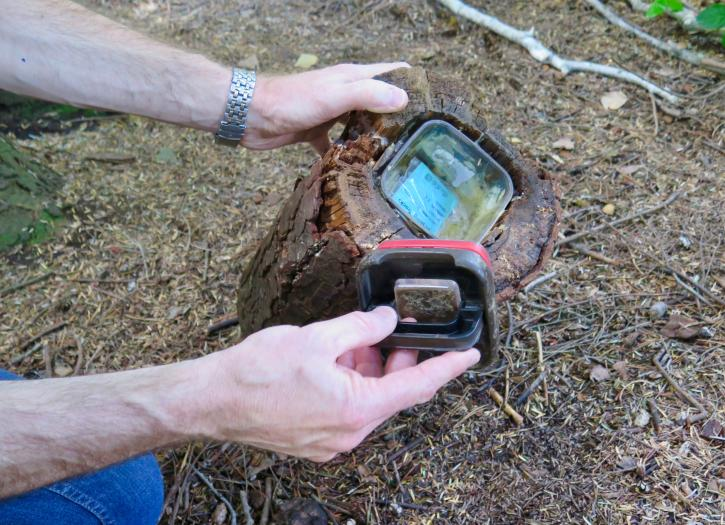 Geocaching at the Richmond Nature Park