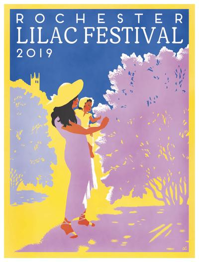 2019 Rochester Lilac Festival Poster