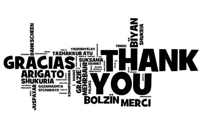 Thank you in every language