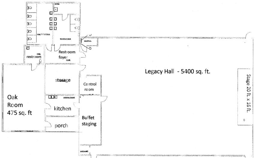 Selma Civic Center Floor Plan