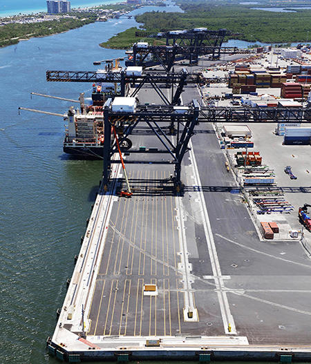 Port Everglades has made major improvements to its existing crane rail infrastructure.