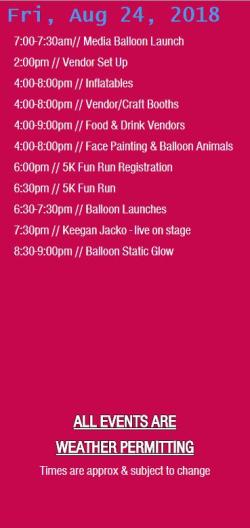 glbf friday schedule