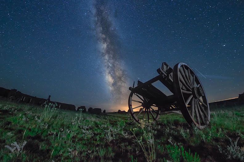 Fort Union National Monument's Sky Glow Project displays the Milky Way