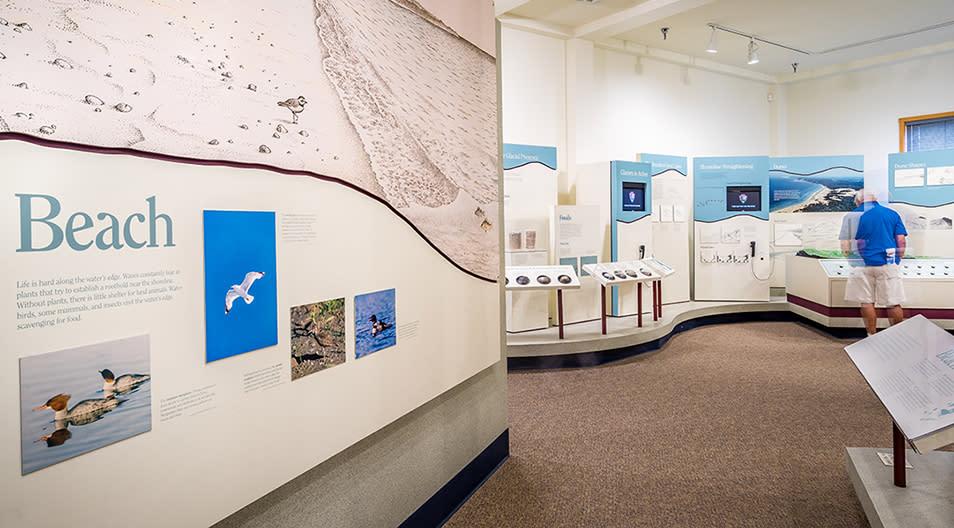 visitors center interior display