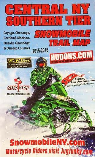 Snowmobile trail map brochure image