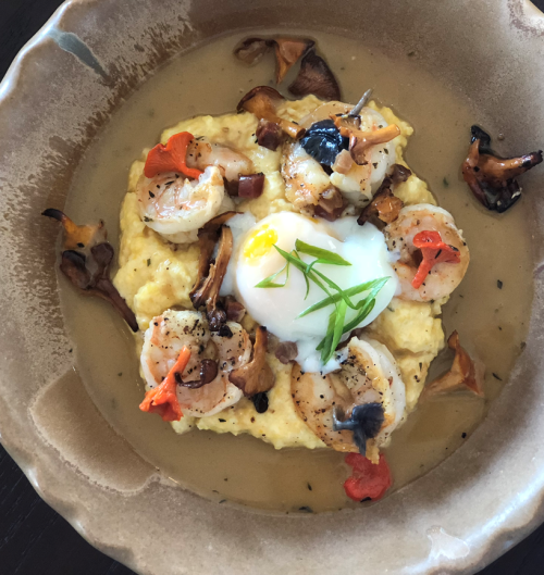 White Pillars Shrimp and Grits