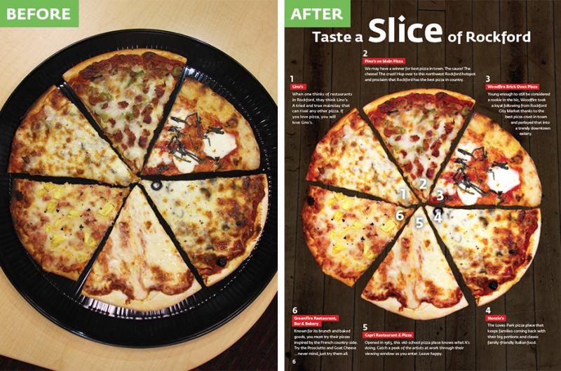 Before/After Pizza page