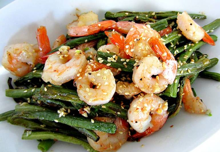 China Express Green Beans and Shrimp