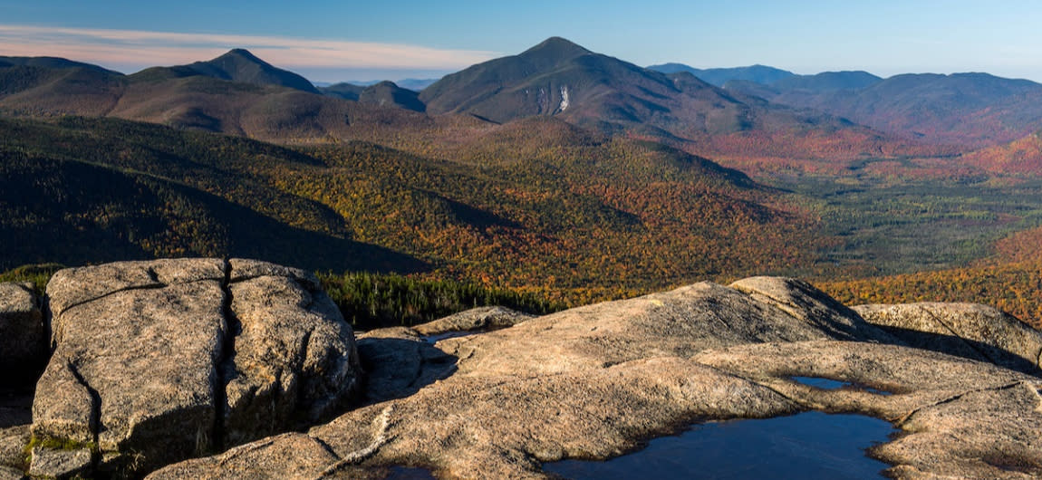 An expansive view of the Adirondacks High Peaks