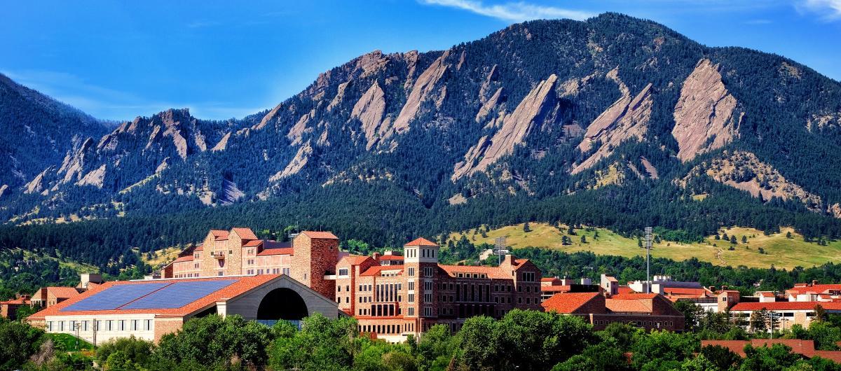 Boulder and Colorado University in Summer