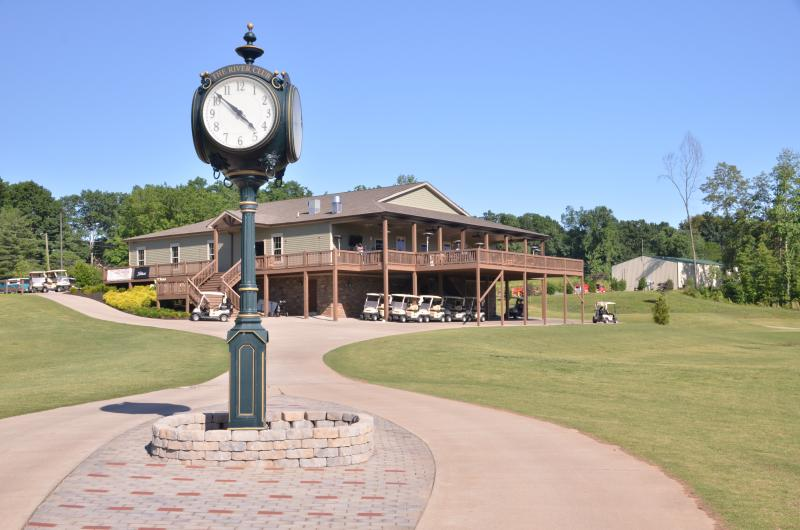 The clubhouse at the River Club Golf Course