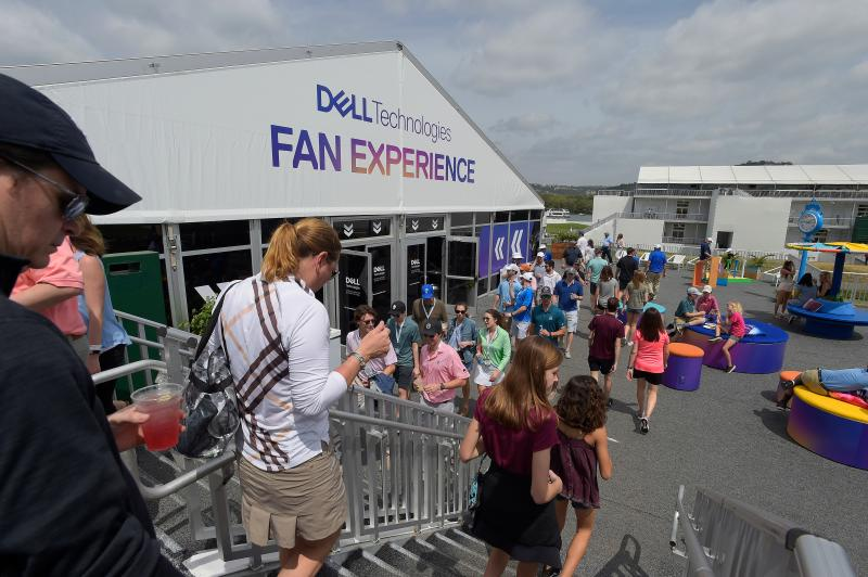 Dell Fan Experience Area at the Dell Match Play golf tournament in austin texas