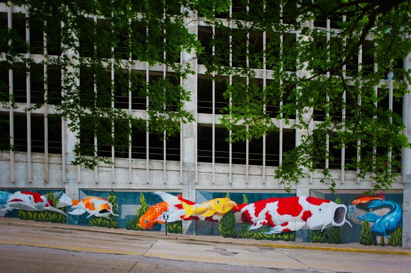 Koi Mural in Downtown Huntsville, AL