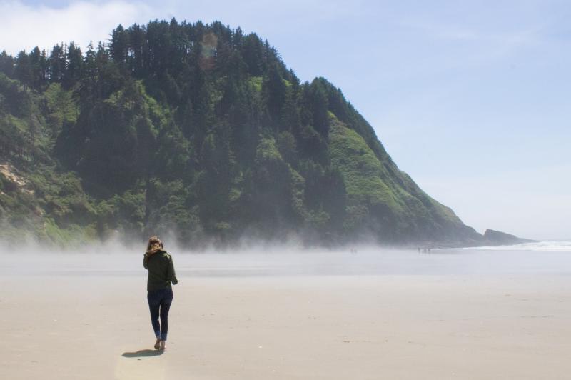 Walking on Hobbit Beach by Stephen Hoshaw