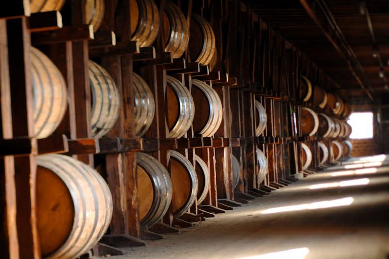 Aging-Bourbon-Barrels
