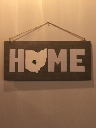 Vine & Tap HOME Sign