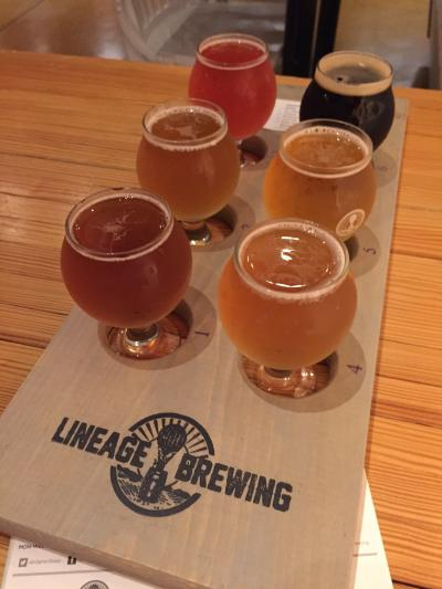 Lineage Brewing Flight of Beer