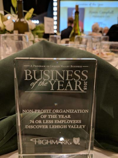Lehigh Valley Business - Nonprofit Organization of the Year