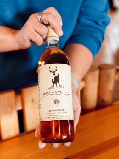 White Tail Run Winery Daring Doe Wine in Edgerton, KS