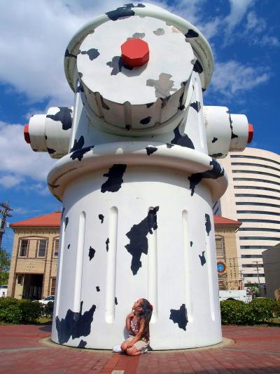 Giant Dalmatian Fire Hydrant in Beaumont, TX