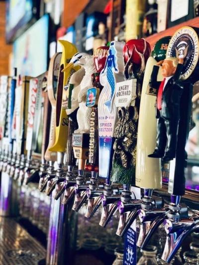 Beer Taps at The District Pub & Grill Downtown Eau Claire