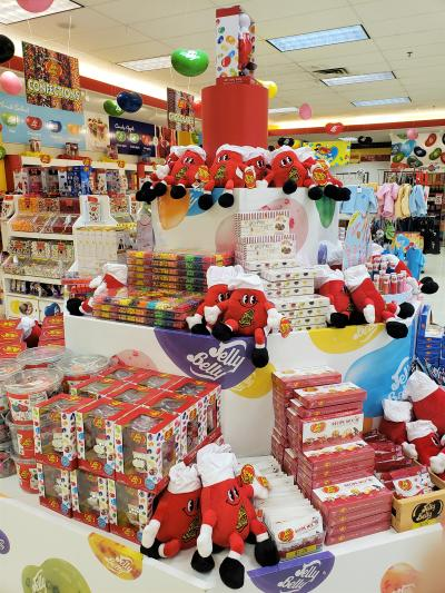 Jelly Belly Bean Display with Stuffies