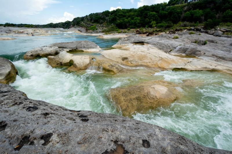 Waterfall at Pedernales Falls State Park